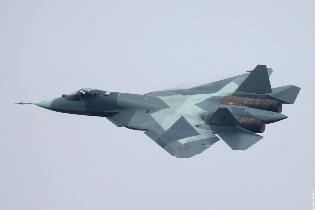 t-50-2 plane Russian sukhoi sky jet military wallpaper