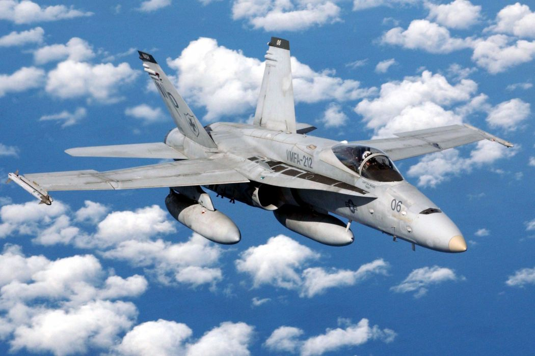 F-18 fighter jet military plane airplane usa (1)_JPEG wallpaper