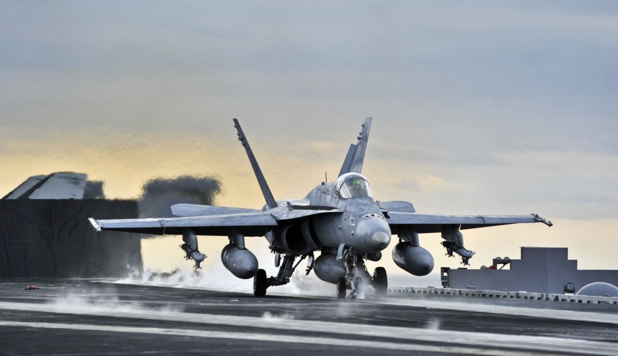 F-18 fighter jet military plane airplane usa (2) wallpaper