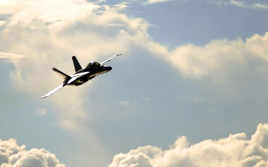 F-18 fighter jet military plane airplane usa (5) wallpaper