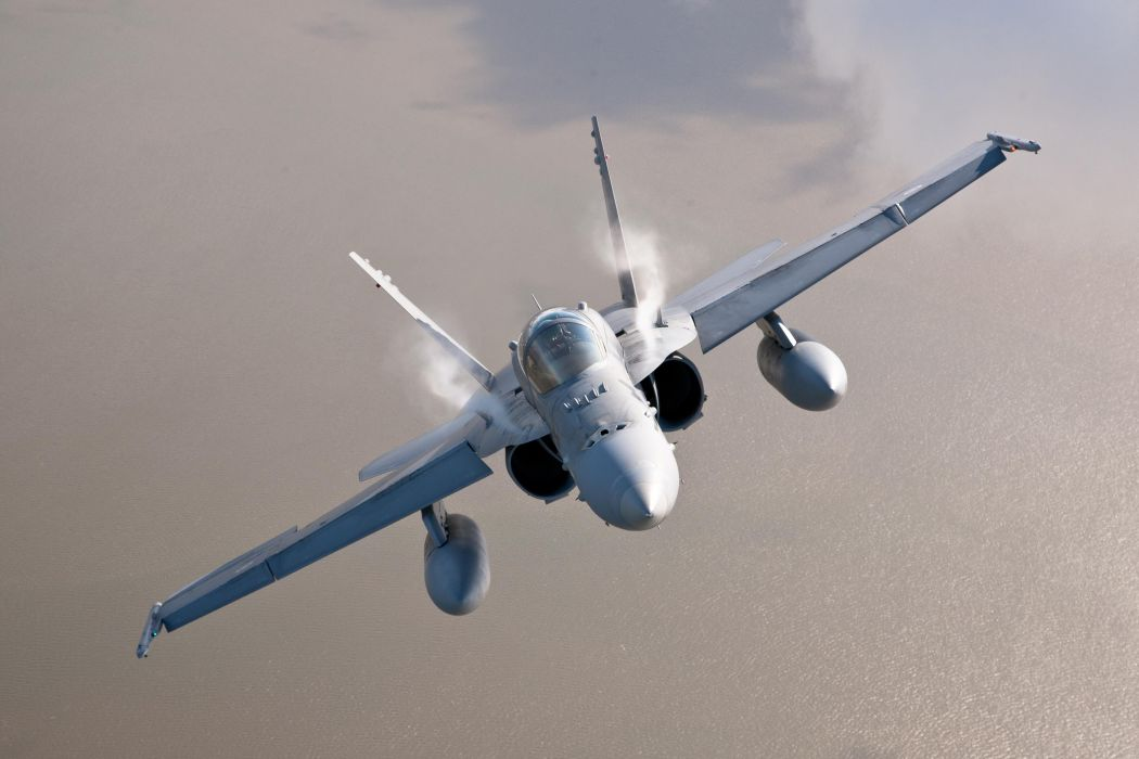 F-18 fighter jet military plane airplane usa (8) wallpaper