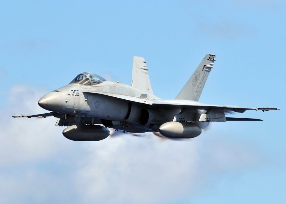 F-18 fighter jet military plane airplane usa (12) wallpaper