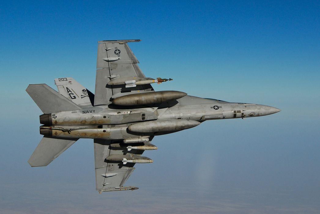 F-18 fighter jet military plane airplane usa (17)_JPG wallpaper