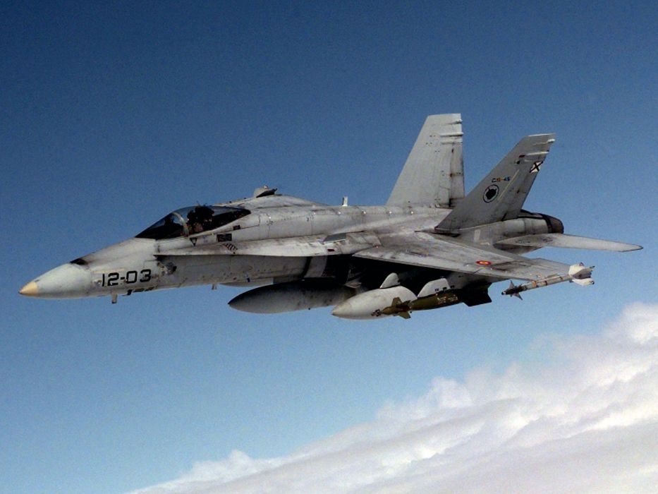 F-18 fighter jet military plane airplane usa (68) wallpaper