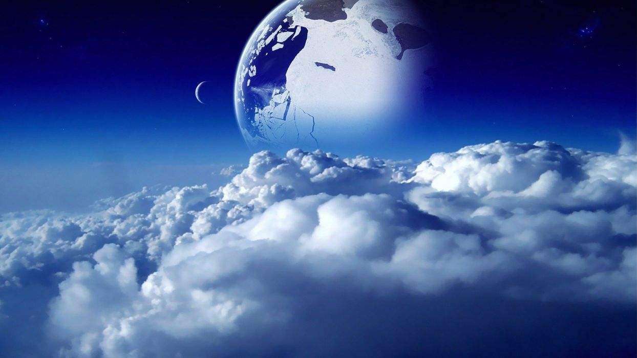 space-sky-clouds-moon-planet-1920x1080 wallpaper