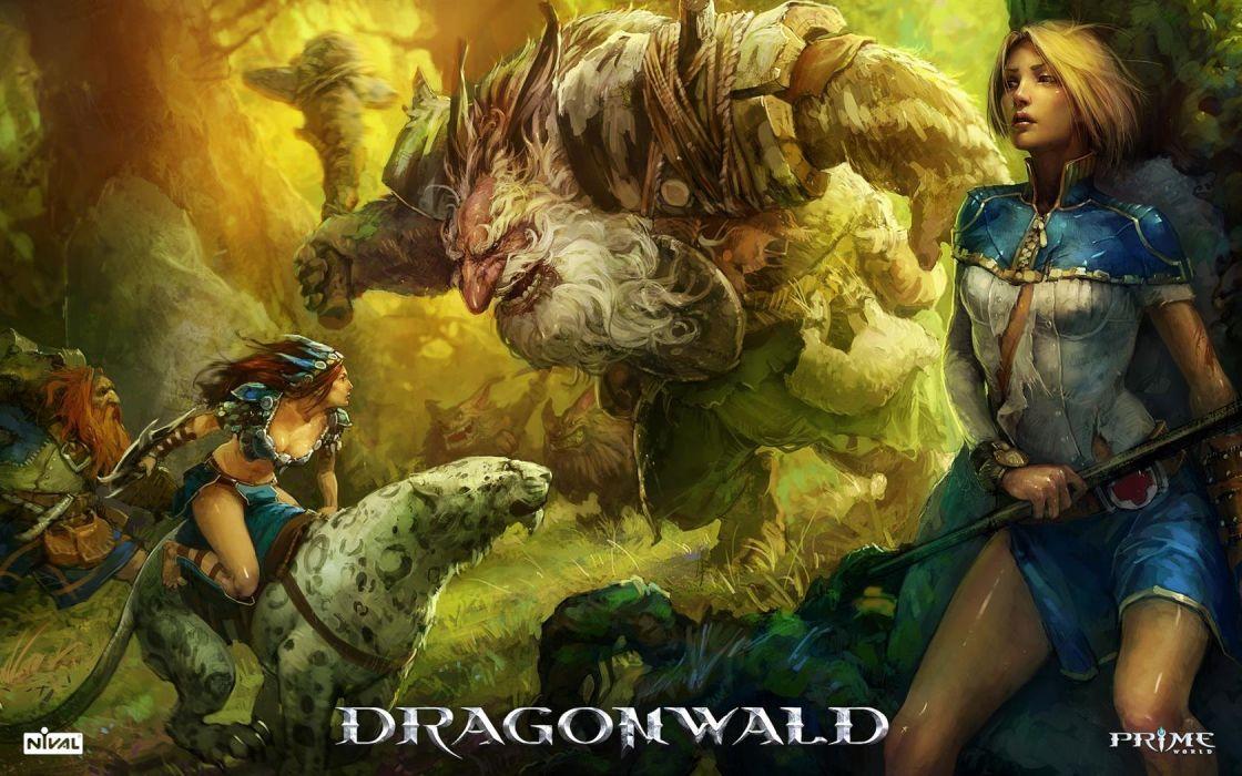 Dragon Wald wallpaper