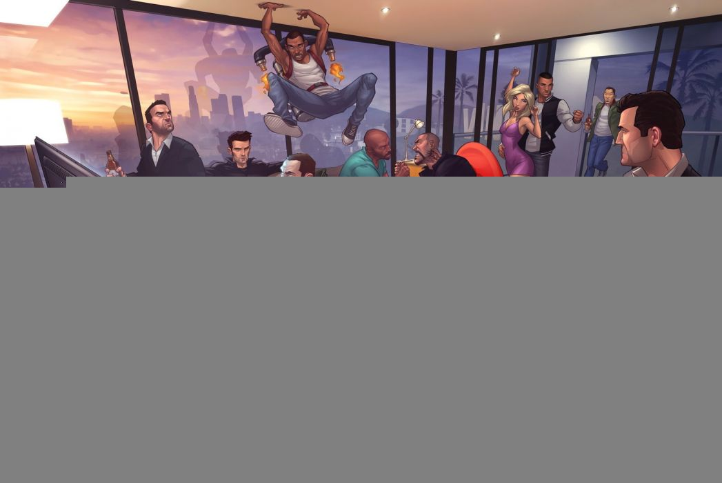 GTA - todos os personagens wallpaper