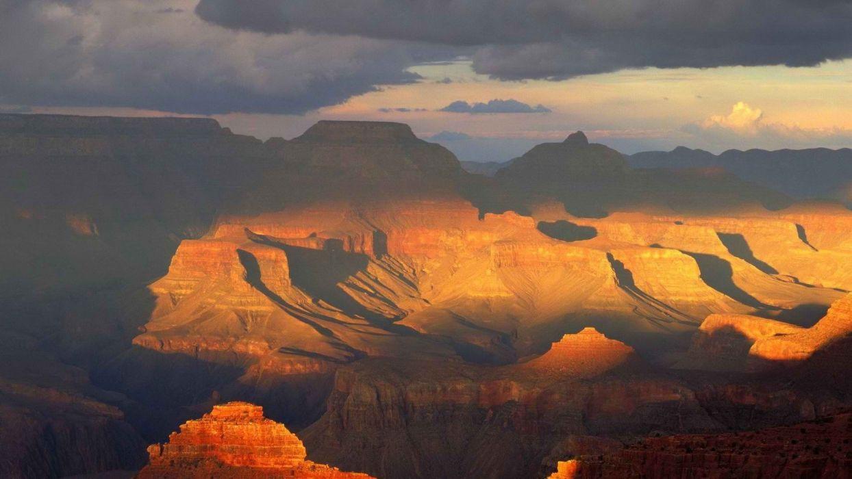 rim Arizona Grand Canyon south National Park rock formations wallpaper