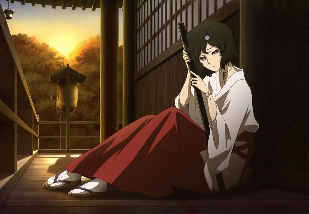 brunettes Japanese trap Miko anime anime boys Steins;Gate Urushibara Ruka Japanese clothes swords wallpaper