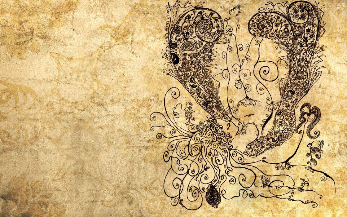 women drawings wallpaper