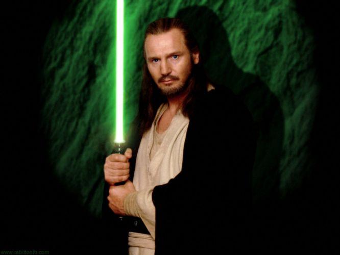 Star Wars men actors Liam Neeson Star Wars: The Phantom Menace Qui-gon Jinn wallpaper