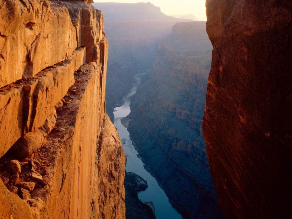 landscapes nature USA rivers ravines wallpaper