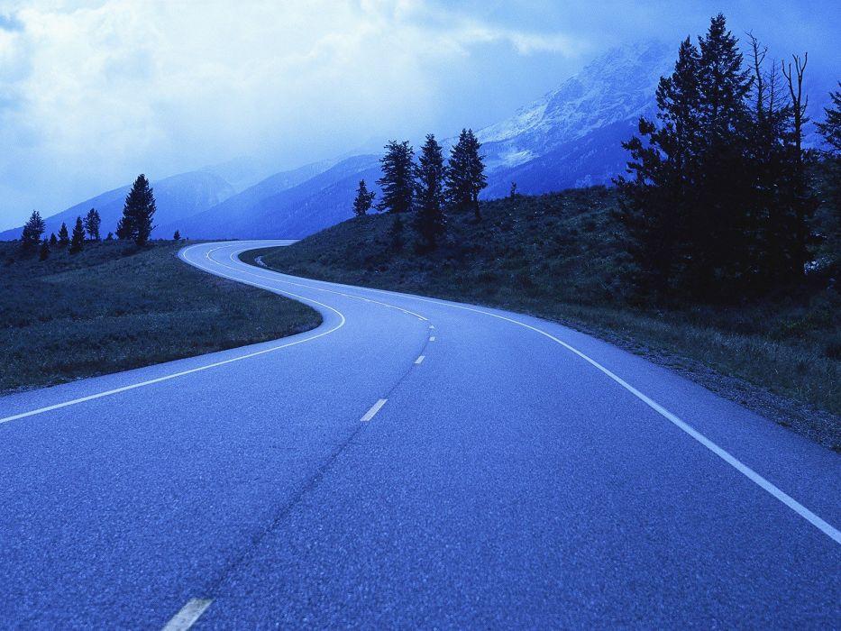 landscapes roads Wyoming Grand Teton National Park National Park wallpaper