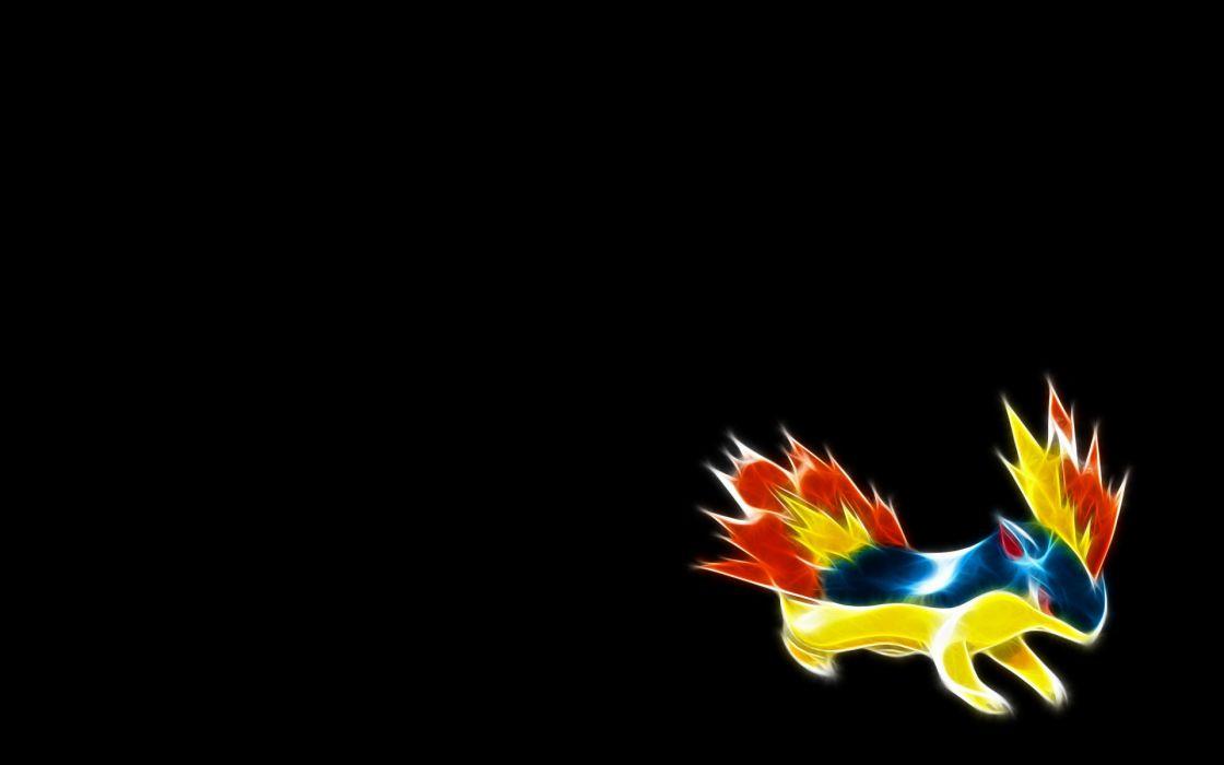 Pokemon Quilava black background wallpaper