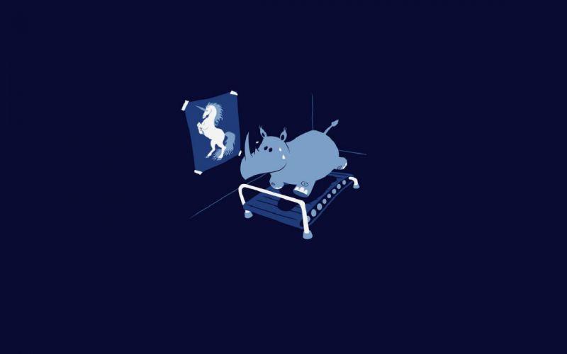 minimalistic vectors unicorns funny Threadless dreams wallpaper