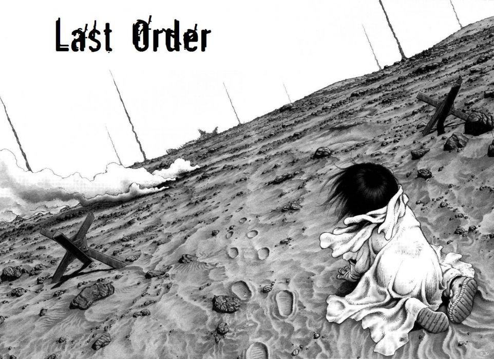Gunnm smoke Battle Angel Alita manga footprint wallpaper