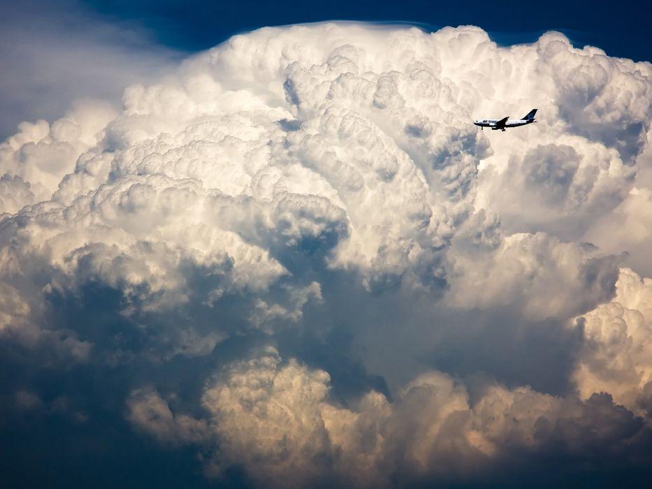 clouds aircraft wallpaper