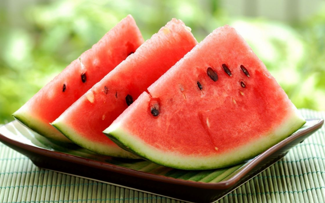 fruits watermelons slices wallpaper