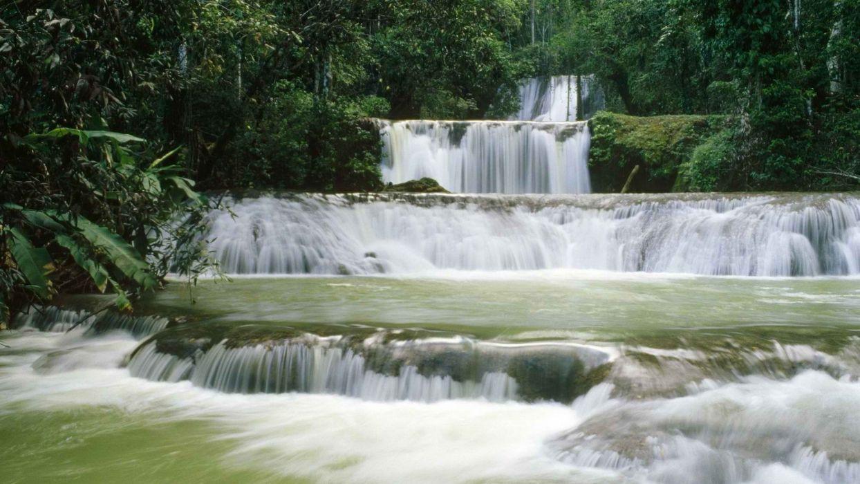 falls Jamaica waterfalls wallpaper
