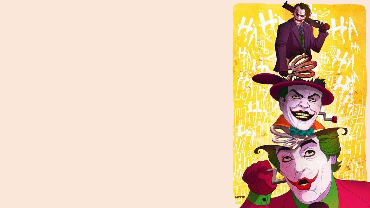 Batman movies DC Comics The Joker Jack Nicholson Heath Ledger fan art wallpaper