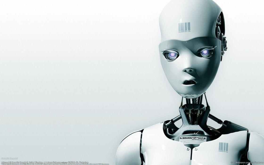 white robots wallpaper
