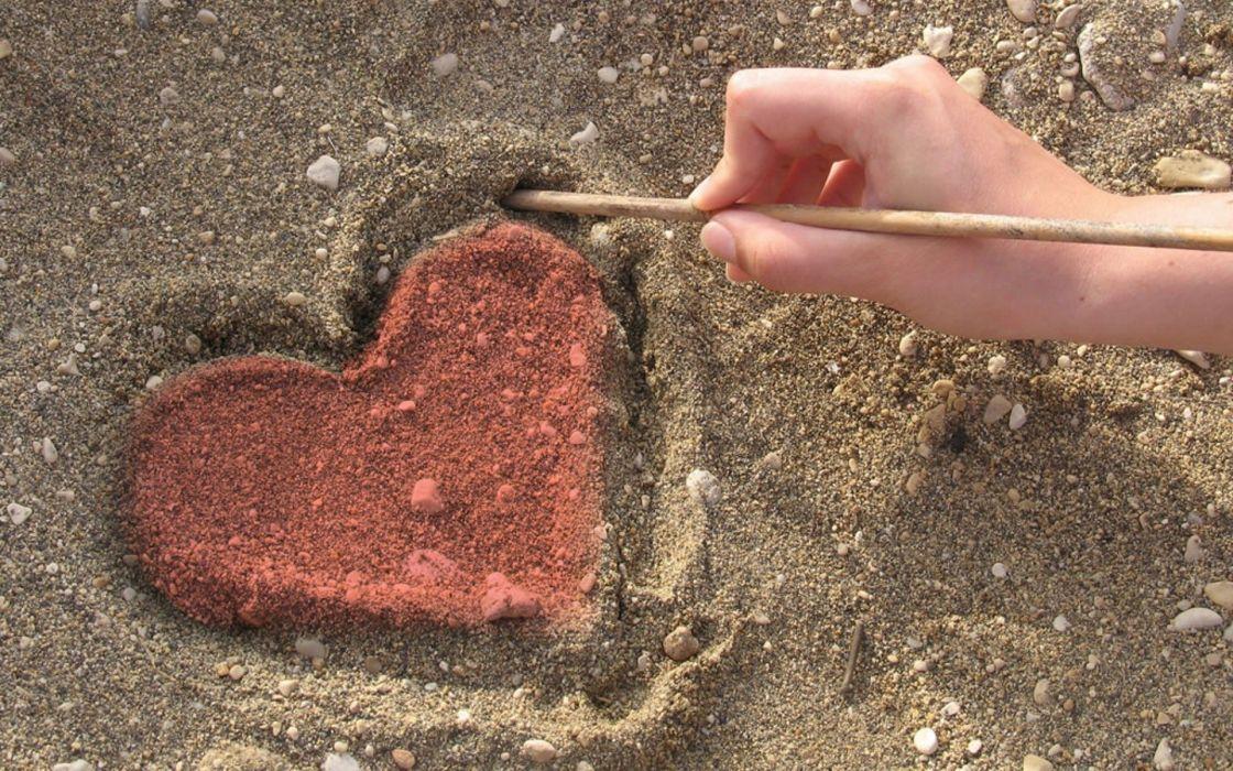 sand hearts wallpaper
