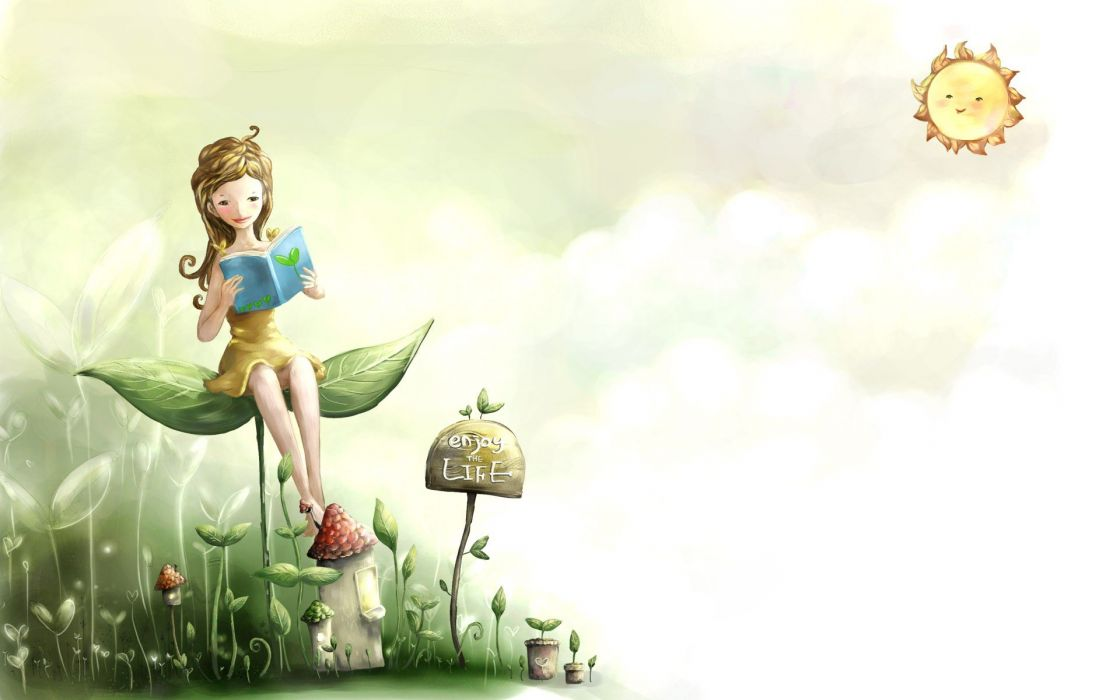 mushrooms artwork wallpaper