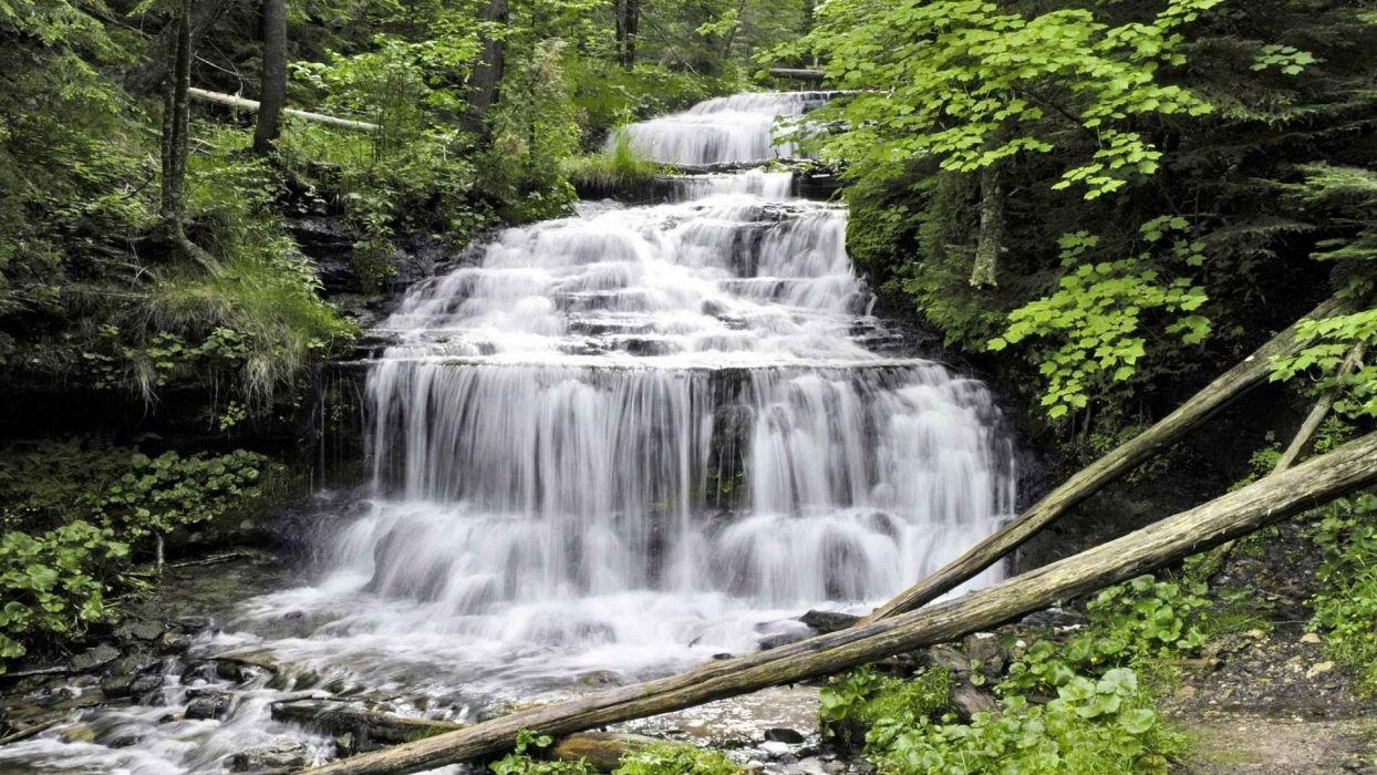 falls Michigan wallpaper