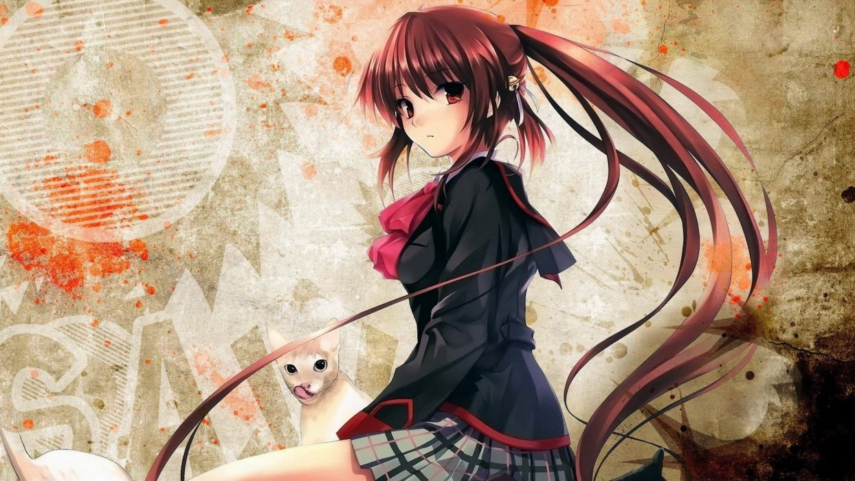 anime Little Busters! Natsume Rin mystery anime girls wallpaper