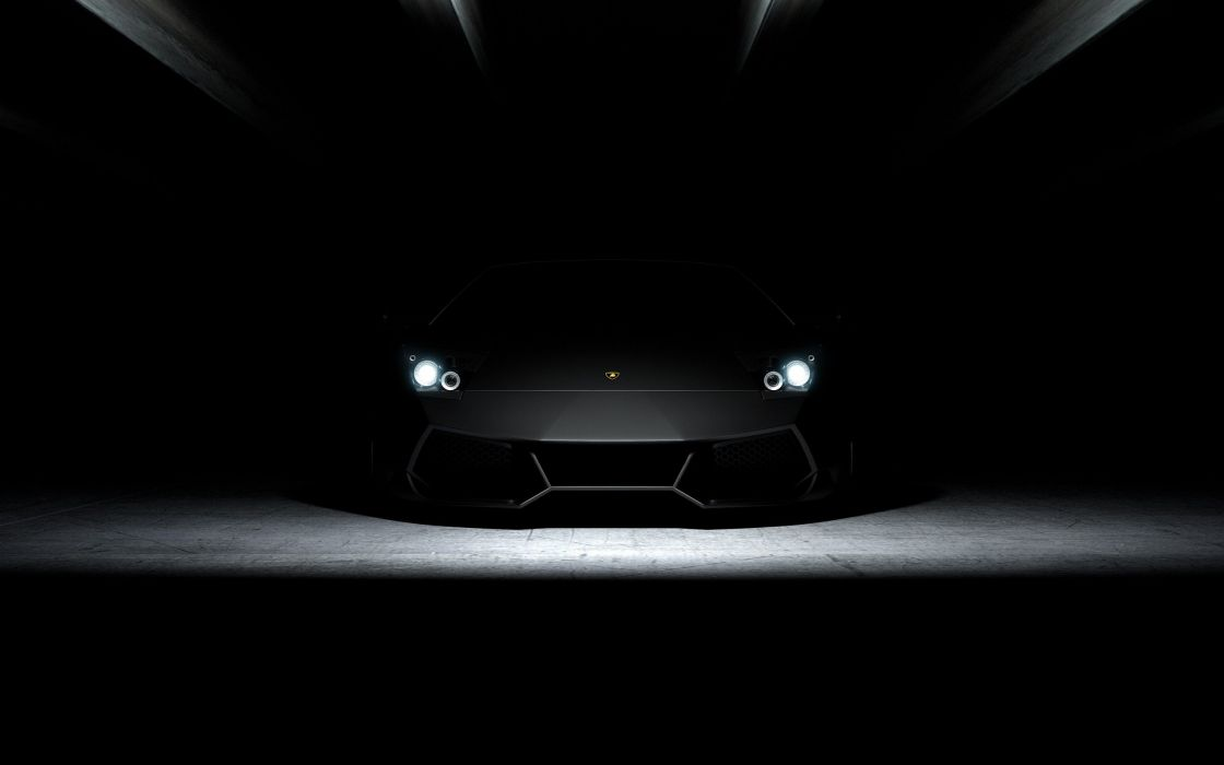 cars Lamborghini headlights wallpaper