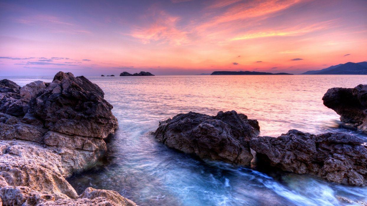 coast rocks wallpaper
