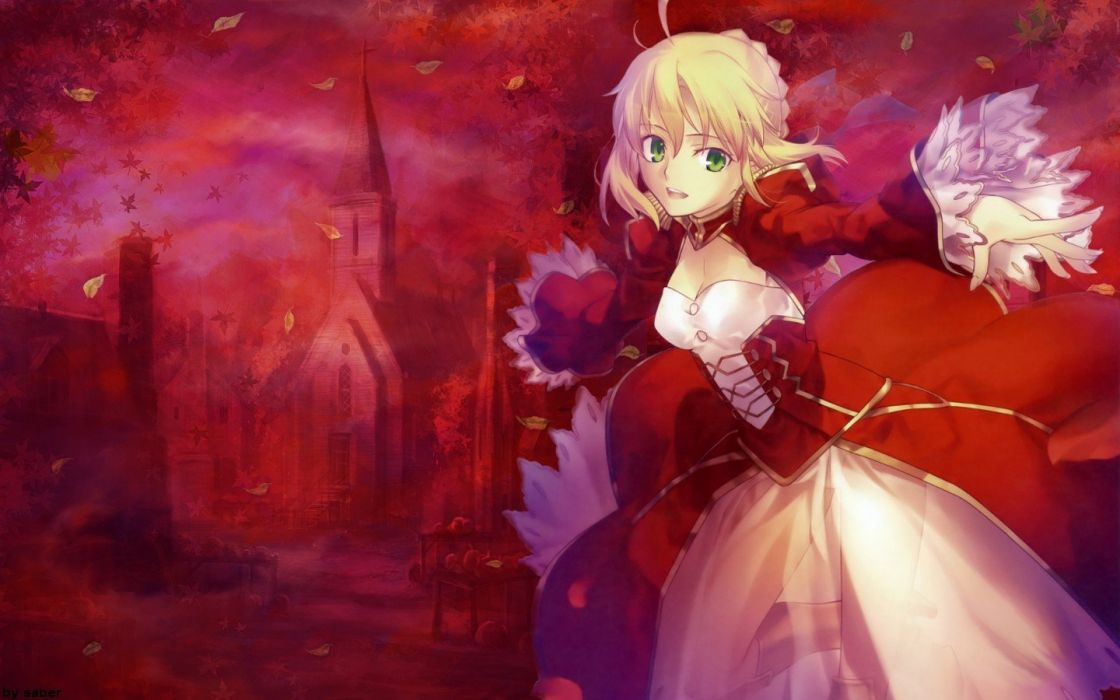 Saber  anime girls Fate/EXTRA Saber Extra Fate series wallpaper