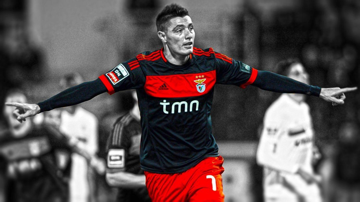 soccer HDR photography cutout football player Oscar Cardozo S_L_ Benfica wallpaper