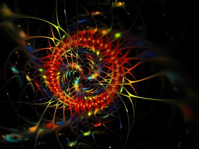 abstract multicolor digital art artwork wallpaper