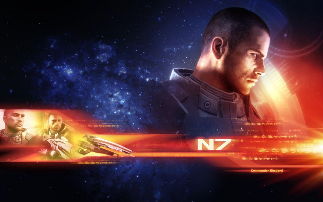 Mass Effect Commander Commander Shepard Sam Shepard wallpaper