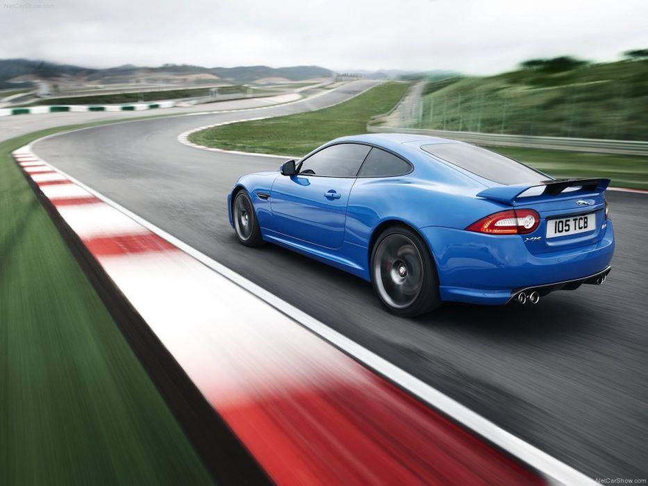 blue cars Jaguar XKR wallpaper