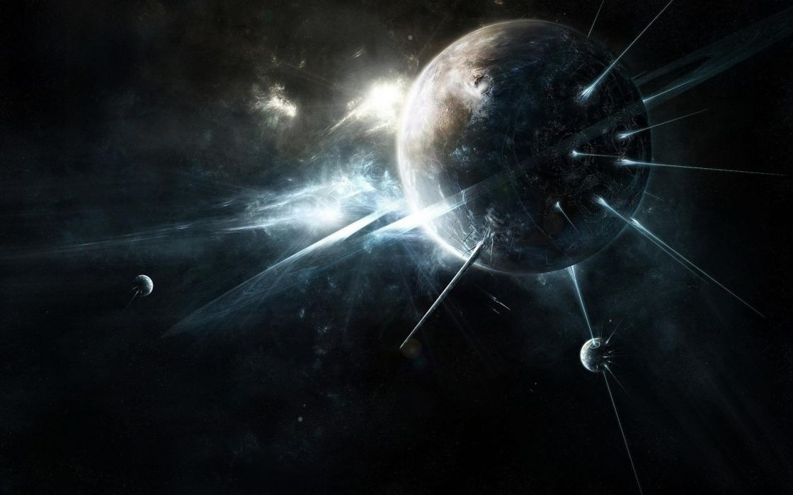 fantasy outer space planets space wallpaper