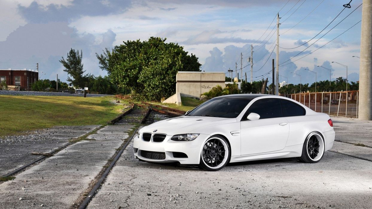 cars vehicles tuning white cars tuned BMW M3 E92 wallpaper