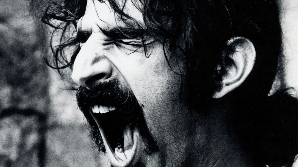 Frank Zappa monochrome wallpaper