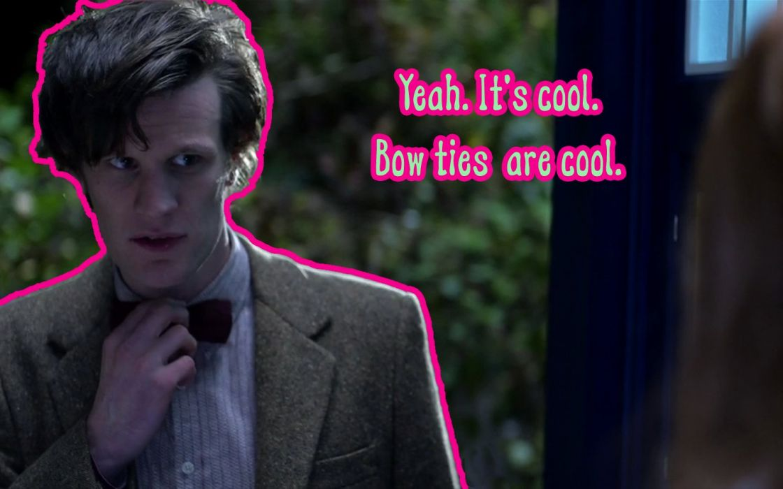 Matt Smith Eleventh Doctor Doctor Who bowtie wallpaper