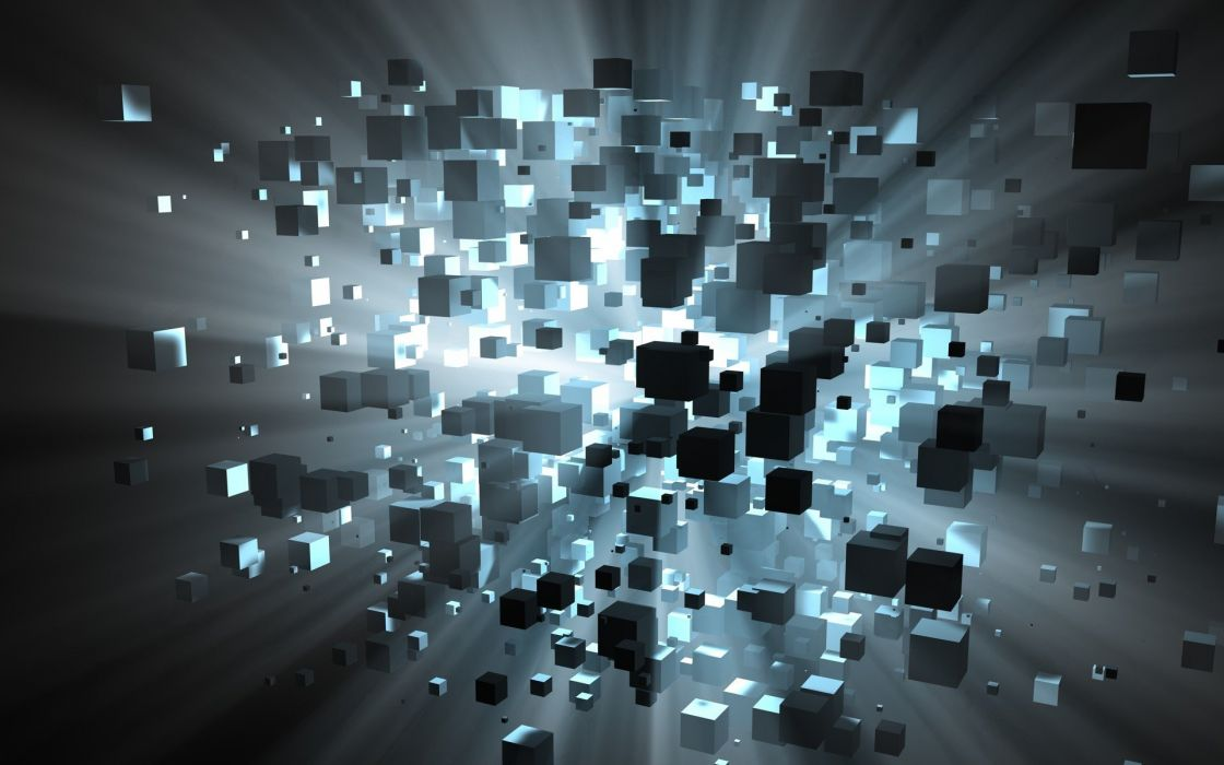 abstract explosions cubes wallpaper