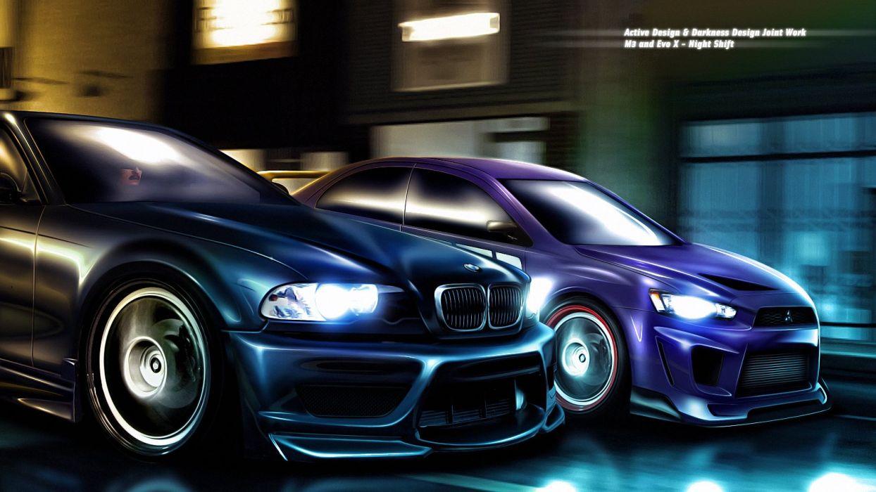 M3 - Evo X Night Shift wallpaper