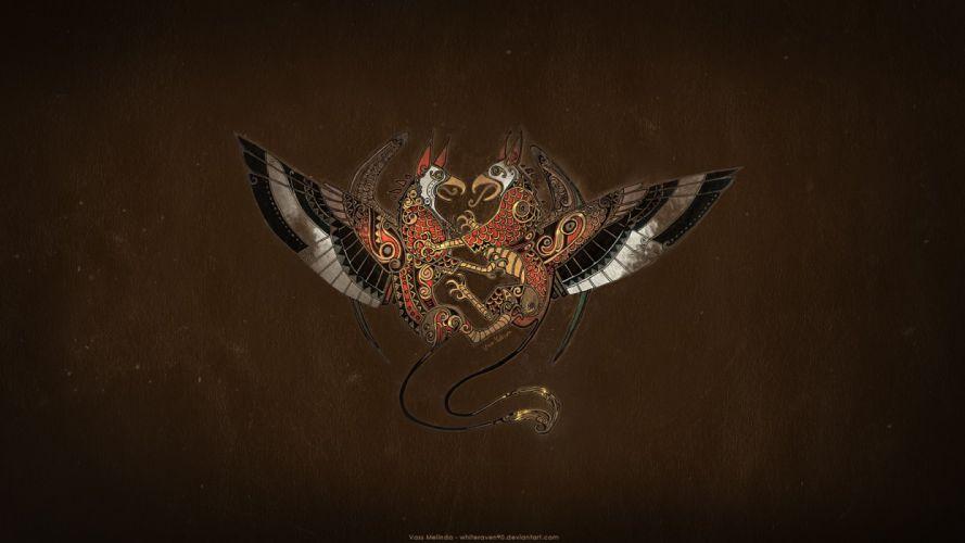 Griffin Crest Wallpaper wallpaper