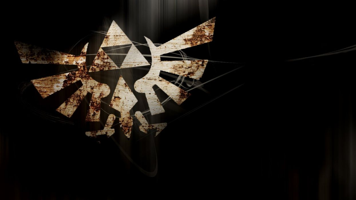 Cracked winged triforce wallpaper