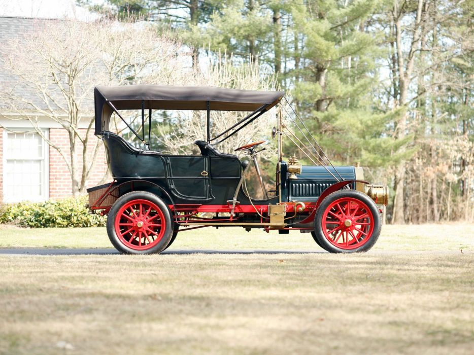 1905 Pierce Great Arrow 28-32 5-passenger Roi-Des-Belges retro  g wallpaper