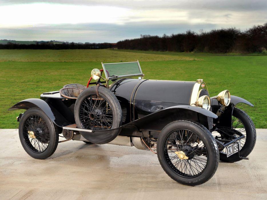 1912 Bugatti Type-18 Black Bess retro     h wallpaper