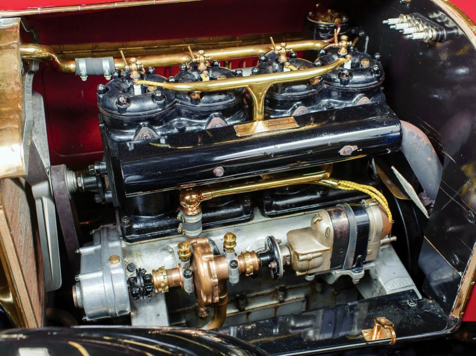 1912 Minerva Type-GG Torpedo Vanden Plas retro engine    h wallpaper