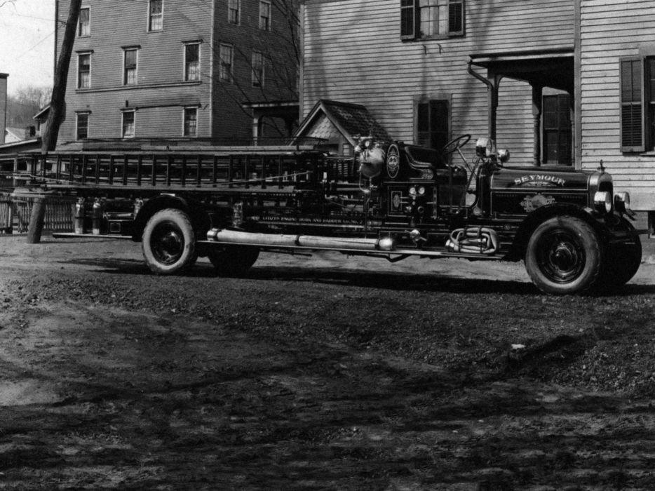 1924 Seagrave City Service Firetruck retro tractor semi emergency    g wallpaper
