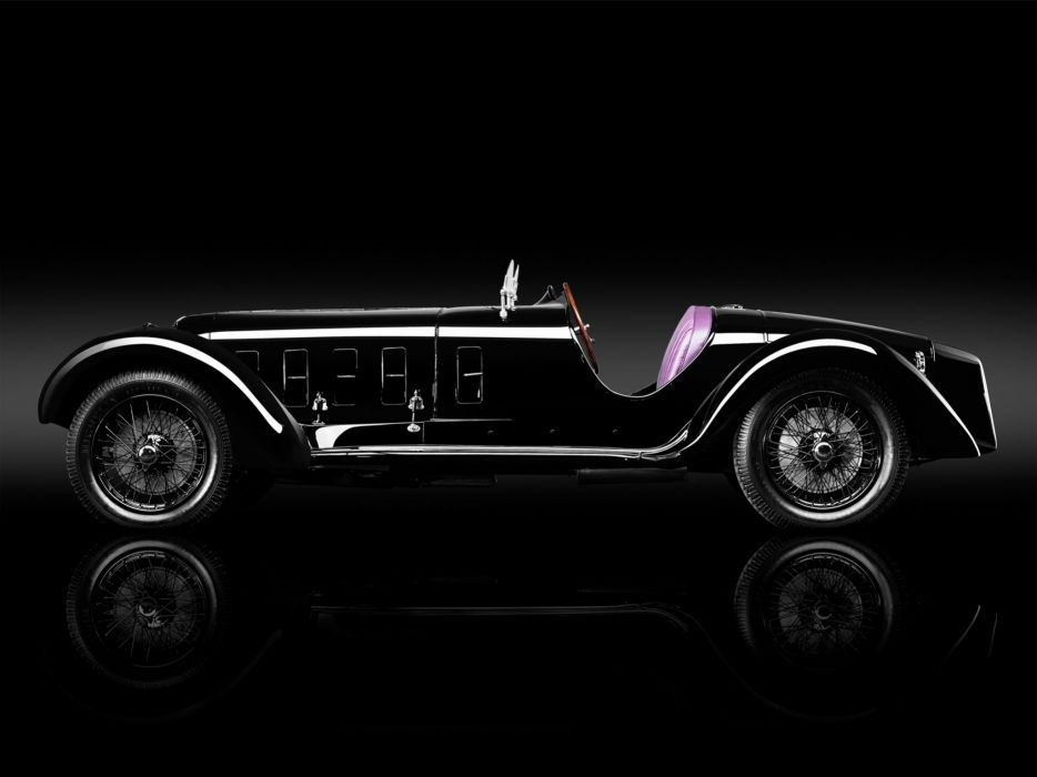 1929 Alfa Romeo 6-C 1750 S-S race racing retro  g wallpaper
