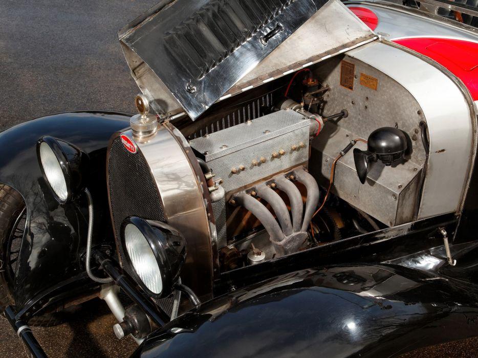 1929 Bugatti Type-40 Roadster retro engine    f wallpaper